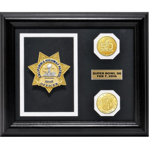 Super Bowl 50 Badge Display Frame